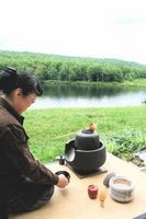 Outdoor Tea Ceremony on the banks of Beecher Lake